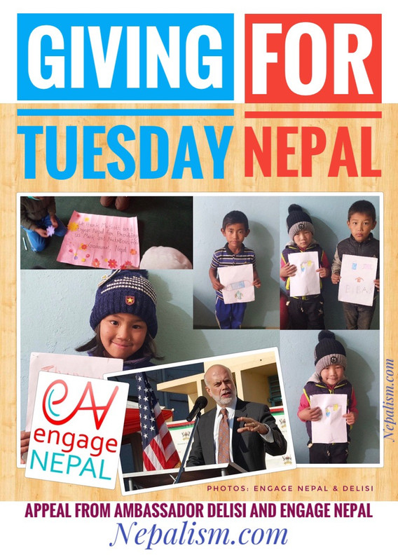 Tomorrow is Giving Tuesday. For Nepal. Will you?