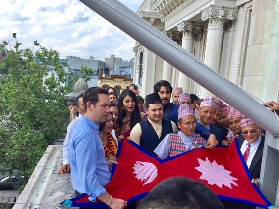 Nepal Flag Raising Ceremony held in Jersey City, first in the USA & World