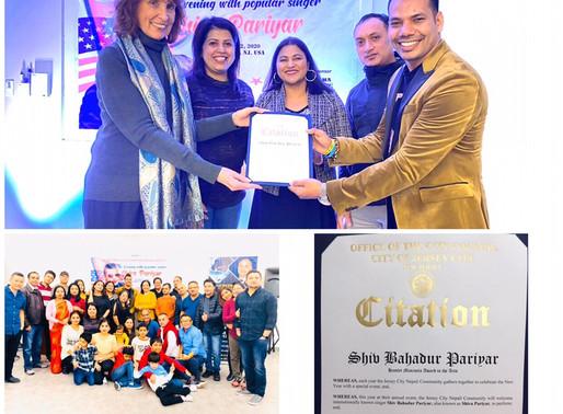 अमेरिकी सरकारको कला पुरस्कारबाट नेपालका लोकप्रिय गायक शिव परियार सम्मानित