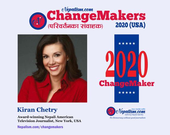 ChangeMakers 2020: Kiran Chetry, Award-winning Nepali American journalist