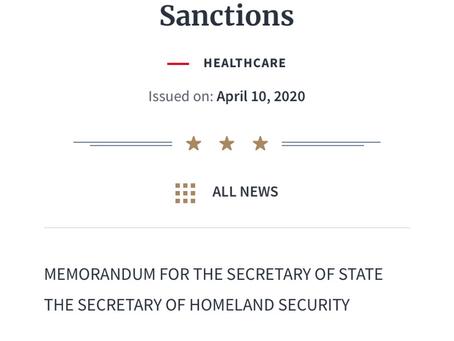 President Trump's Memorandum on Visa Sanctions during Coronavirus Pandemic Emergency