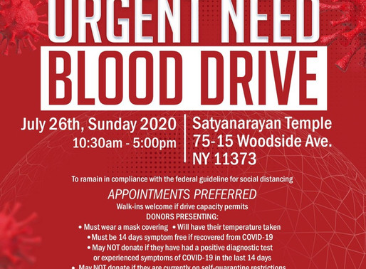 NRNA New York's Blood drive: American Red Cross Urges Blood Donations to Prevent Blood Shortage