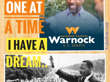 """I have a dream..."" That came true: Rev. Raphael Warnock (D) won GA Senate race. Why does it matter"