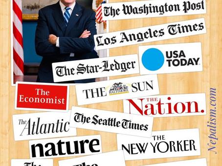 मिडिया ईन्डोर्समेन्ट: बाईडेनलाई १०३ अमेरिकी दैनिक, ट्रम्पलाई ७ समर्थन, माईनोरिटी मिडिया बाईडेन पक्ष