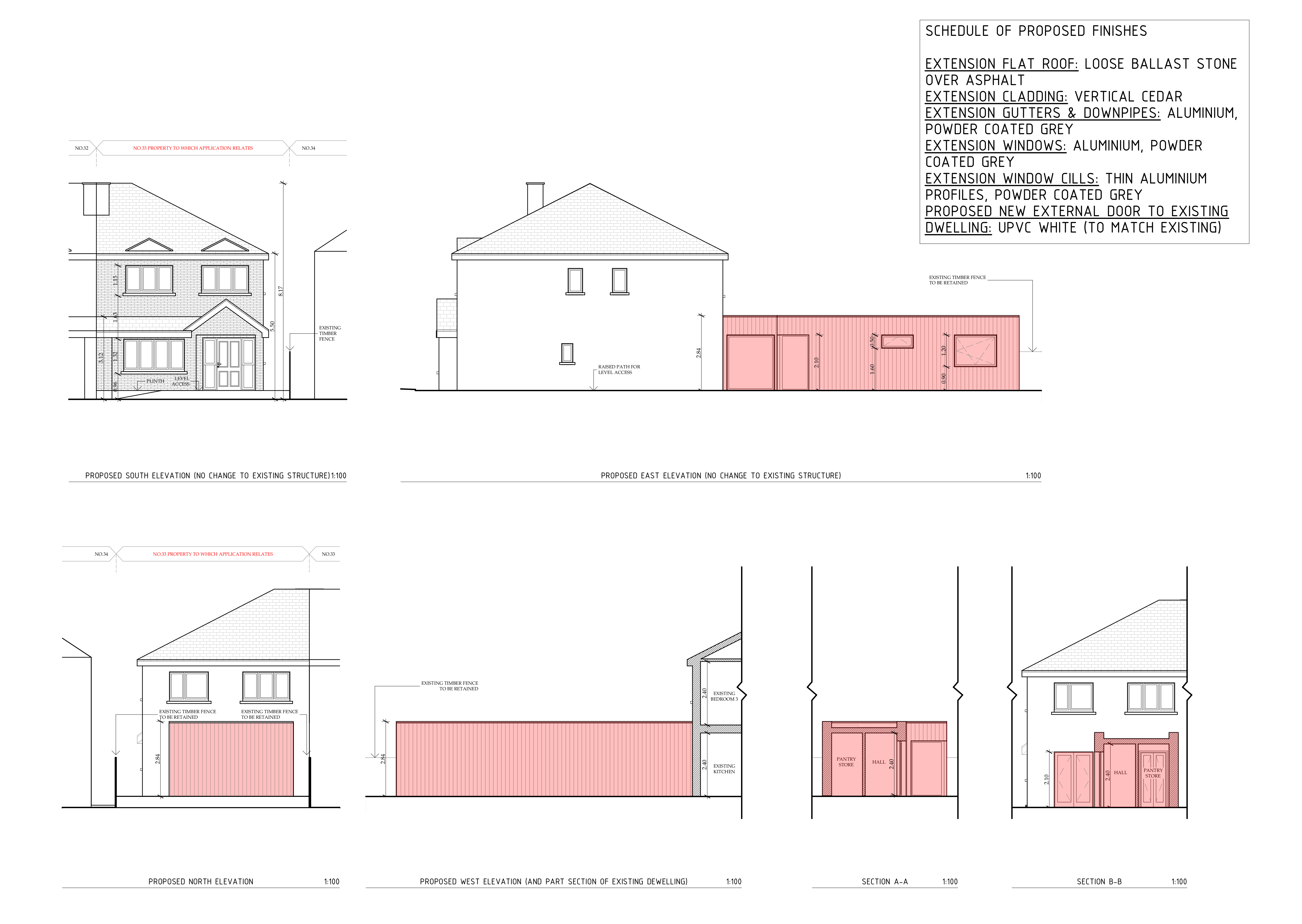 Proposed Elevations & Sections
