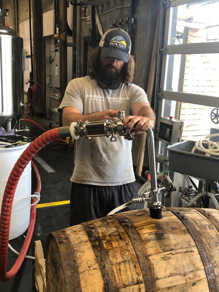 Tosh,sealing the soot barrels.jpg