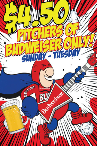 Custom Bud Man Bar Special Promo
