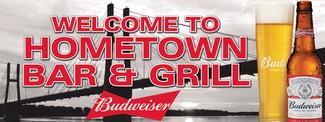 Hometown Bar & Grill Custon Wall Signage