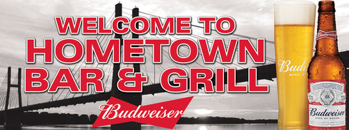 Hometown Bar & Grill Custon Wall Signage
