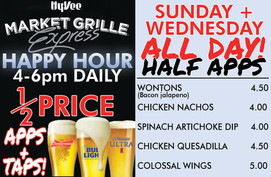 Hyvee Market Grill Specials