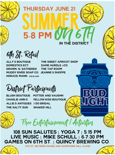 Bud Light Summer Event Graphics The District