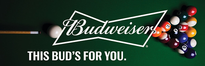 Budweiser Rack Daddy's Pool Sign
