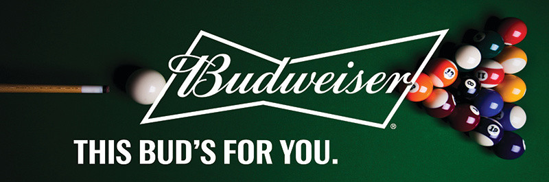 Budweiser Rack Daddy's Pool Sign