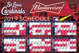 St. Louis Cardinals 2019 Budweiser Schedule