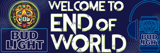 End of World Music Festival Signage example