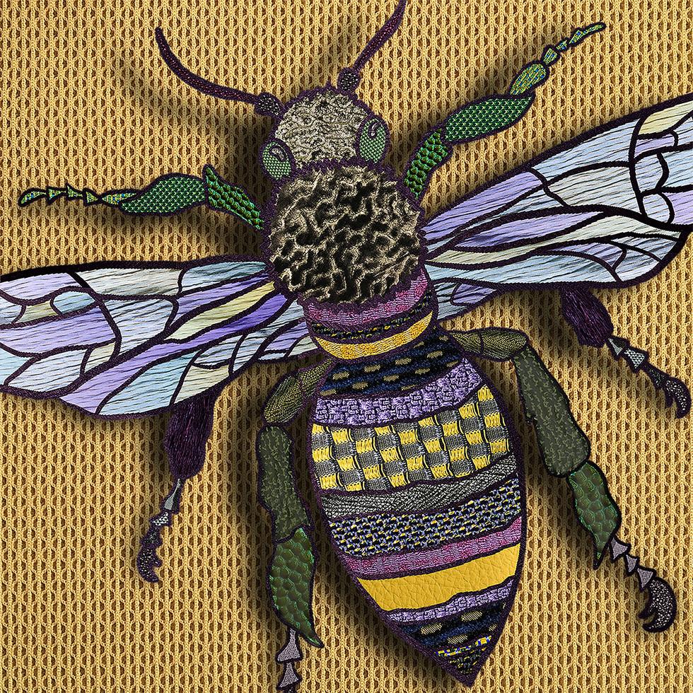 Digital Illustration using fabric samples