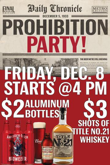 Speakeasy Bar Prohibition Event Promo