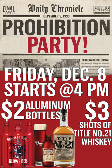 Speakeasy Bar Prohibition Event Promo