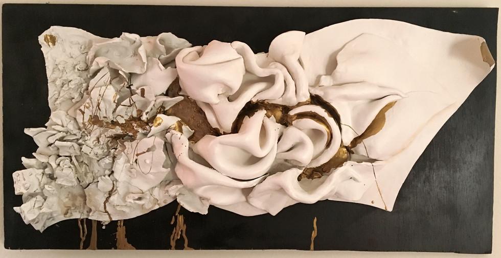 """Transitions"" ceramic wall sculpture"