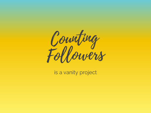 Counting Followers is a vanity project