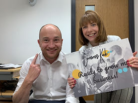 Chloe with Kris Keighley with placard.jp
