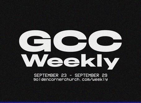 GCC Weekly: 09|23 - 09|29