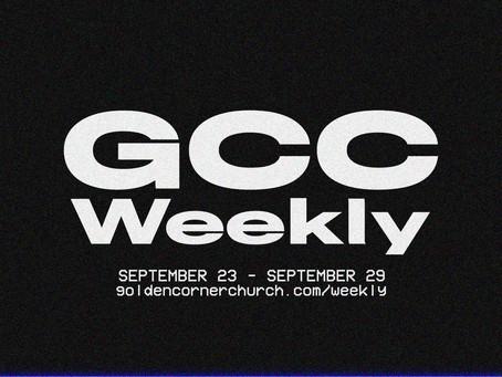 GCC Weekly: 09 23 - 09 29
