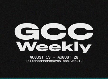 GCC Weekly: 08|19 - 08|26