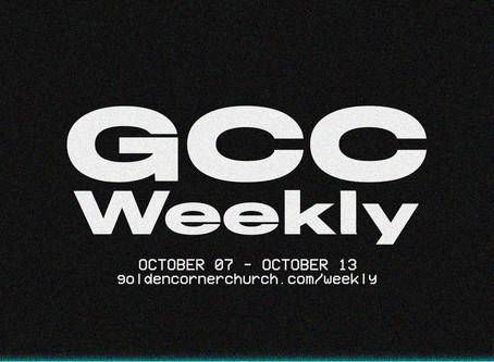 GCC Weekly: 10|07 - 10|13
