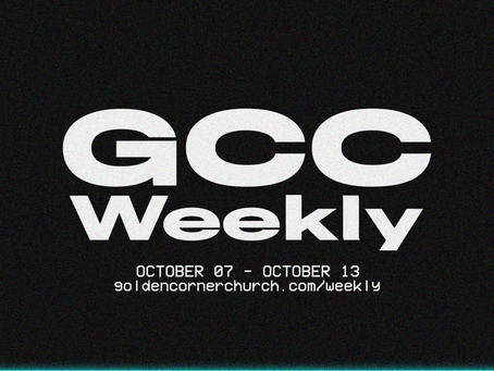 GCC Weekly: 10 07 - 10 13