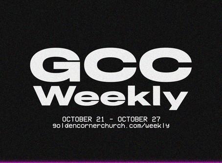 GCC Weekly: 10|21 - 10|27