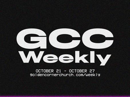 GCC Weekly: 10 21 - 10 27