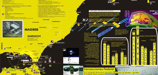 Fig. 17. hackitectura e Indymedia Estrecho. Cartografía Crítica del Estrecho (cara A), 2004. Cortesía de José Pérez de Lama, Pablo de Soto y José Laulhé.