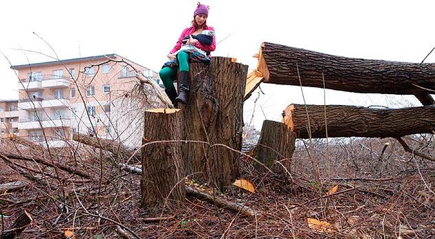 Fig.12. Malik, C. The Polish Mother on the Tree Stumps, 2017. [Fotografía]. Cortesía dela artista y MUSAC.