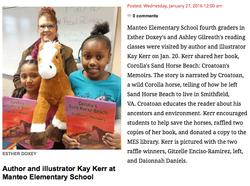 Kay visited Manteo Elementary!