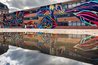 1000m² graffiti muurschildering