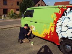 VW Transporter graffiti 1