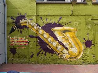 Saxefoon graffiti