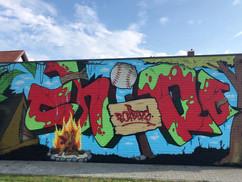 Chiro Boxberg - Graffiti muur