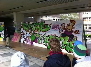 Future Formers - graffiti demonstratie