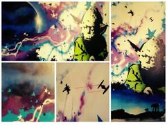 Starwars muurschildering kinderkamer