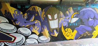 3D graffiti letters @ Easterjam