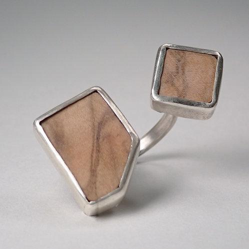 moku スプリットリング オリーブ  moku split ring (olive)