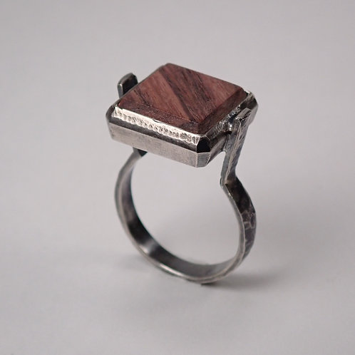 moku スクエアリング キングウッド moku square ring King wood