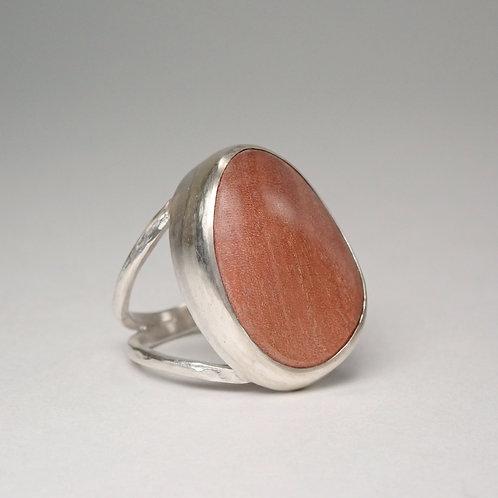 moku ラウンドリング ピンクアイボリー  moku round ring (pink ivoly)