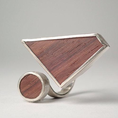 moku スパイラルリング ローズウッド  moku spiral ring (rose wood)