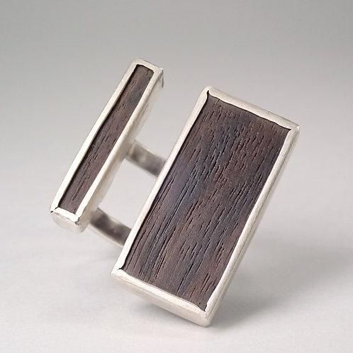 moku ダブルスプリットリング 黒檀  moku double split ring (ebony)