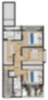 PLANTA  SUPERIOR CASA 151,76 M²