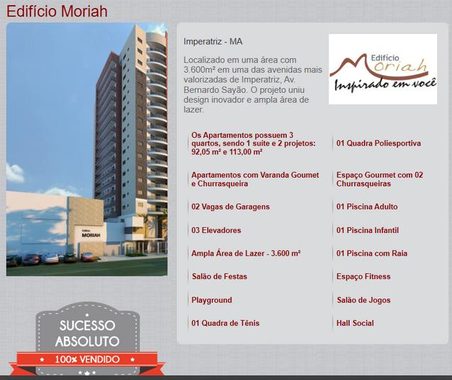 Sobre o edifício Moriah