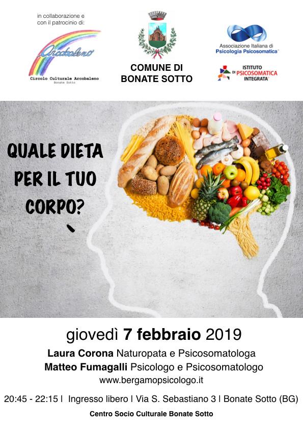 Quale dieta per il tuo corpo? | 7 febbraio | Bonate Sotto